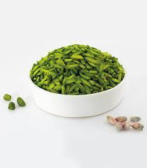 green peeled pistachio